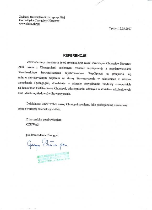 Związek Harcerstwa Rzeczypospolitej - Górnośląska Chorągiew Harcerzy